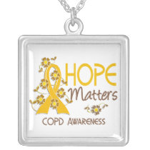 COPD Hope Matters 3 Silver Plated Necklace