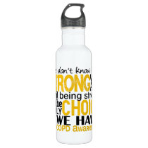COPD How Strong We Are Water Bottle