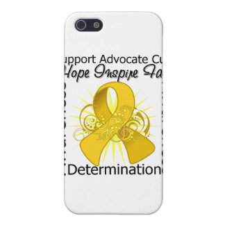 COPD Inspirations Spiral Ribbon iPhone 5 Cases