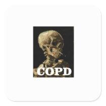 COPD kills Square Sticker
