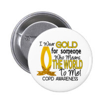COPD Means World To Me 1 Pinback Button