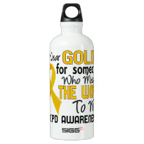 COPD Means World To Me 2 Aluminum Water Bottle