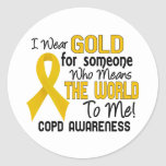 COPD Means World To Me 2 Classic Round Sticker