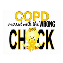 COPD Messed With The Wrong Chick 1 Postcard