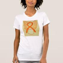 COPD Orange Awareness Ribbon Angel Custom Shirt