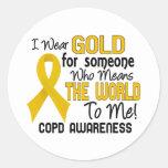 COPD significa el mundo a mí 2 Pegatina Redonda