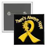 COPD There's Always Hope Floral Pinback Button
