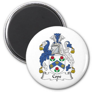 Cope Family Crest 2 Inch Round Magnet