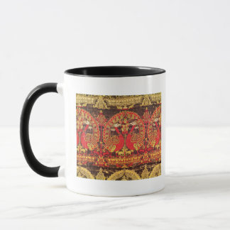 Cope with peacock motif and kufic inscription mug