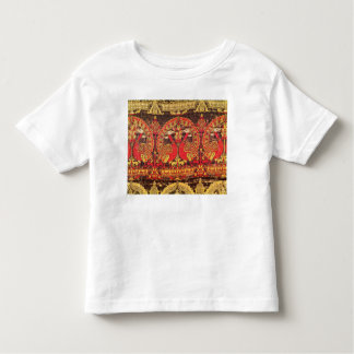 Cope with peacock motif and kufic inscription toddler t-shirt