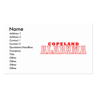 Copeland, Alabama City Design Double-Sided Standard Business Cards (Pack Of 100)