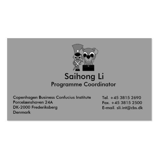 Copenhagen Business Confucius Institute Business Card Template
