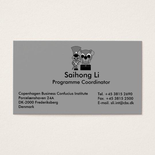 Copenhagen Business Confucius Institute Business Card