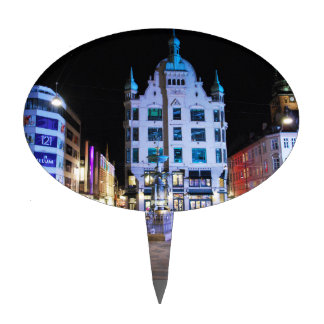Copenhagen City Hall Square at Night Cake Picks