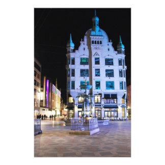 Copenhagen City Hall Square at Night Flyer