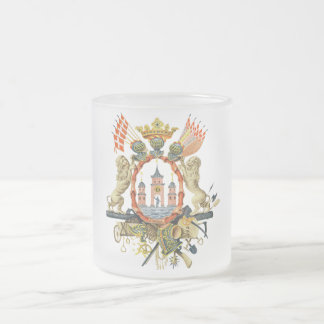 Copenhagen Coat of Arms Frosted Glass Coffee Mug