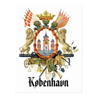 Copenhagen Coat of Arms Postcard