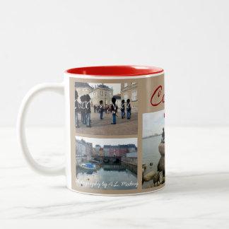 Copenhagen Collage Two-Tone Coffee Mug