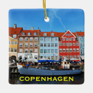 Copenhagen Denamrk Square Christmas Ornament