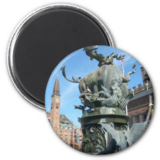 Copenhagen, Denmark 2 Inch Round Magnet