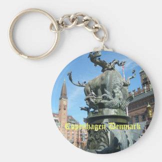 Copenhagen, Denmark Basic Round Button Keychain