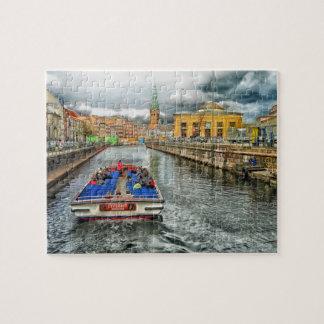 Copenhagen Denmark Canal Jigsaw Puzzle Jigsaw Puzzle