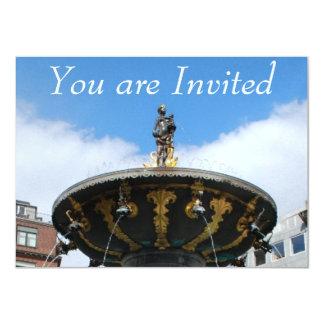 Copenhagen Denmark, Caritas Well Fountain Card