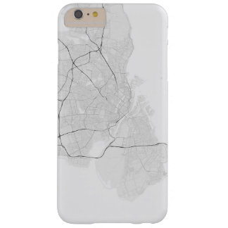 Copenhagen, Denmark Map. (Black on white) Barely There iPhone 6 Plus Case