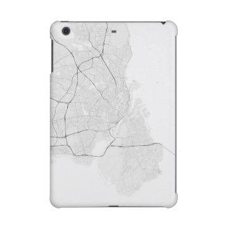 Copenhagen, Denmark Map. (Black on white) iPad Mini Retina Case