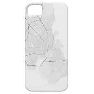 Copenhagen, Denmark Map. (Black on white) iPhone SE/5/5s Case
