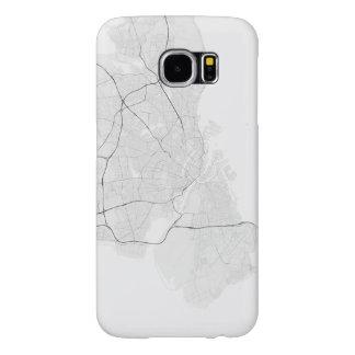 Copenhagen, Denmark Map. (Black on white) Samsung Galaxy S6 Case