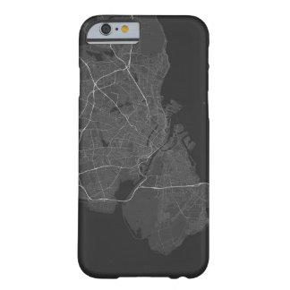 Copenhagen, Denmark Map. (White on black) Barely There iPhone 6 Case