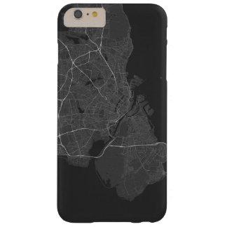 Copenhagen, Denmark Map. (White on black) Barely There iPhone 6 Plus Case