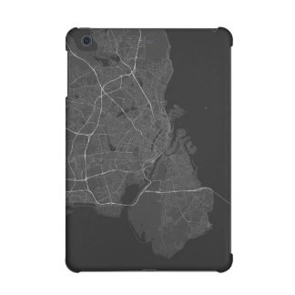 Copenhagen, Denmark Map. (White on black) iPad Mini Case