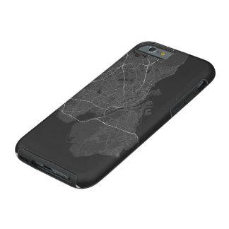 Copenhagen, Denmark Map. (White on black) Tough iPhone 6 Case