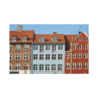 Copenhagen houses canvas print