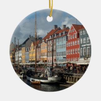 Copenhagen Nyhavn Ceramic Ornament
