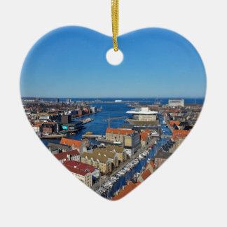 Copenhagen Port  top of Vor Frelsers Kirke Ceramic Ornament