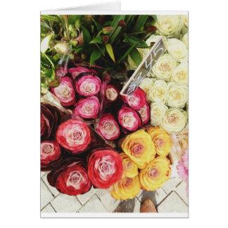 Copenhagen rainbow flowers greeting card