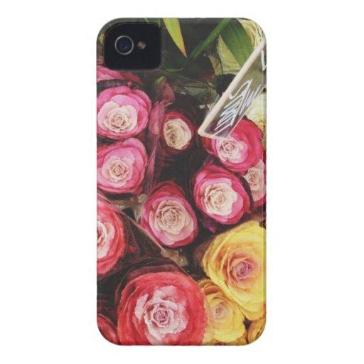 Copenhagen rainbow flowers iPhone 4 cases