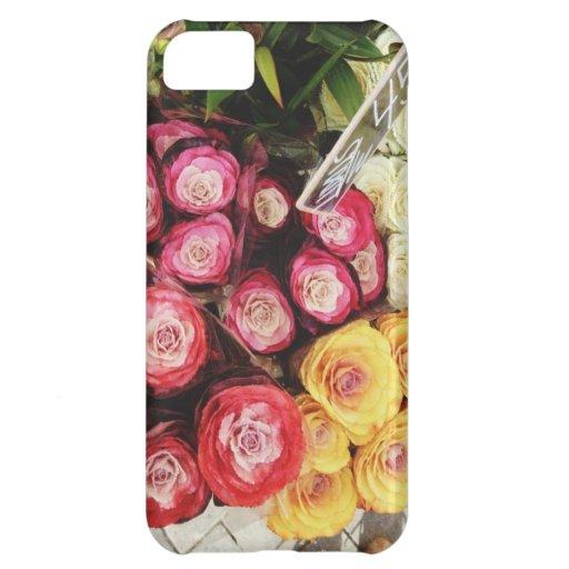 Copenhagen rainbow flowers iPhone 5C covers