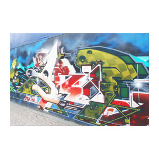 Copenhagen Street Graffiti Art Canvas Print
