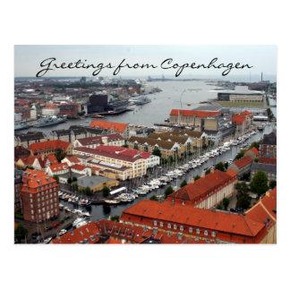 copenhagen view greetings post card
