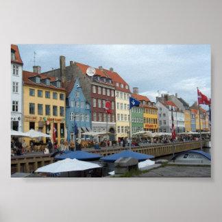 Copenhagen waterfront poster