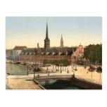 Copenhague - intercambio Pasillo, Dinamarca Tarjeta Postal