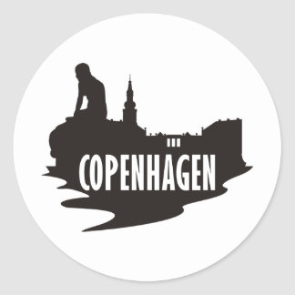 Copenhague Pegatina Redonda