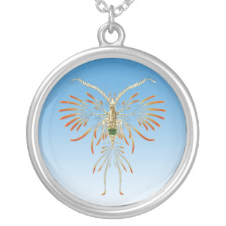 Copepod Round Pendant Necklace