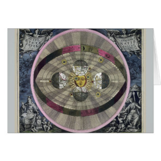Copernican system of the Universe Card