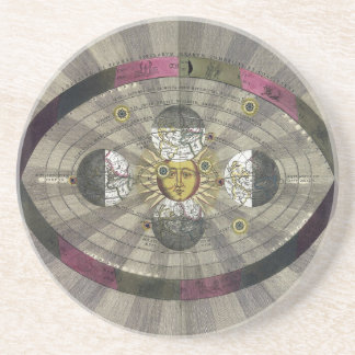 Copernican system of the Universe Drink Coaster