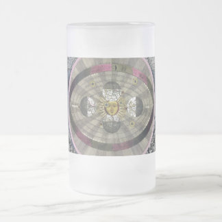Copernican system of the Universe Frosted Glass Beer Mug